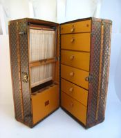 A 1930 Louis Vuitton wardrobe trunk, sold for Tall Cabinet Storage, Locker Storage, Auction Items, Sell Items, Antique Silver, Louis Vuitton, Antiques, Furniture, Home Decor