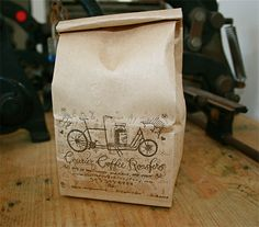Courier Coffee Roasters, letterpressed ON the bag. #coffee #packaging #design