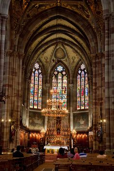 Gorgeous stained glass windows ~ Obernai, Alsace, France