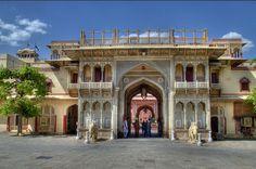 entrance gate of City Palace Jaipur, Rajasthan, India