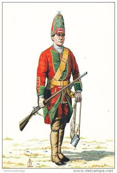 British; Cornwallis Regiment, 11th Foot, grenadier 1743 by Alix Baker