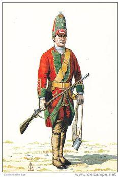 British; Cornwallis Regiment, 11th Foot, grenadier 1743 by Alix Baker