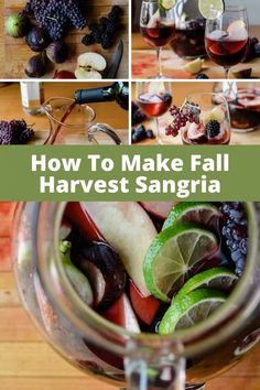 This Fall Sangria is like the California wine harvest in a glass: Champagne grapes, Mission figs, crisp apples, and blackberries mixed with luscious Merlot. #sangria #fallsangria #wine #winecocktail