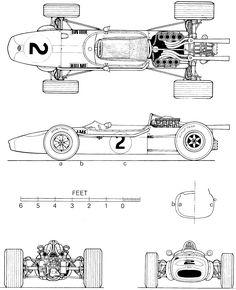 Brabham BT24 blueprint