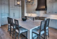 New Kitchen Island Countertop Ideas Hardware Ideas New Kitchen, Kitchen Decor, Island Kitchen, Kitchen Ideas, Apron Front Kitchen Sink, Waterfront Homes For Sale, Dining Chair Slipcovers, Timber Flooring, Luxury Interior Design