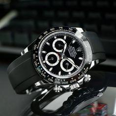 Darth Vader looking stealthy in all black 🖤 Rolex Tudor, Swiss Made Watches, Sports Models, Rolex Daytona, Rolex Submariner, Watch Bands, Rolex Watches, All Black, Bracelet Watch