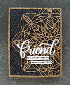 Intricate Die Cutting with Glitter Paper – kwernerdesign blog
