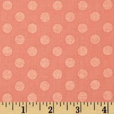 Kaufman Spot On Pearl Metallic Medium Dot Peach from @fabricdotcom  From Robert Kaufman, this cotton print features a pearlized metallic polka dot and is perfect for quilting, apparel and home decor accents.  Colors include a pearlized peach dot on a peach background.