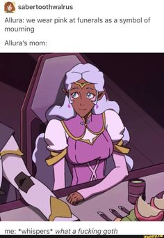 I wish they had put just a little more into her character design though- literally thought that was Allura for a minute