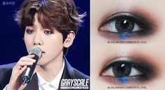 EXO's Byun Baekhyun Eye Make Up In Music Bank Mexico - you know shit is real when you copy a guys makeup