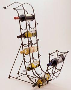 A saxophone wine rack.