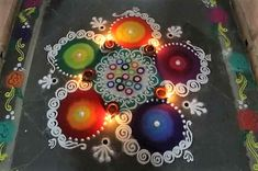 Get the best rangoli design for this season. Try these rangoli designs, make them to decorate your home during festivals and other special occasions. Easy Rangoli Designs Videos, Easy Rangoli Designs Diwali, Rangoli Designs Latest, Rangoli Designs Flower, Colorful Rangoli Designs, Rangoli Ideas, Rangoli Designs Images, Diwali Rangoli, Flower Rangoli