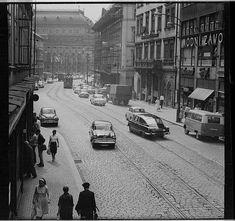 Výsledek obrázku pro praha vaclavske namesti Prague Photos, Czech Republic, Historical Photos, Times Square, Street View, Retro, Photography, Travel, Historia