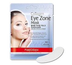 PUREDERM Collagen Eye Zone Mask Pad Patches - Wrinkle Care, Dark Circles Whitening (2 Pack (60 Sheet))