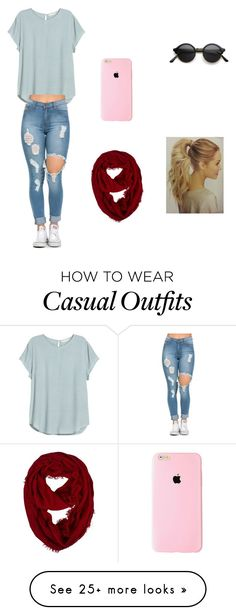 """Casual"" by arianna1403 on Polyvore featuring H&M, women's clothing, women's fashion, women, female, woman, misses and juniors"