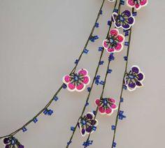 turkish lace  needle lace  crochet  oya necklace  by beyhan1972, $46.00