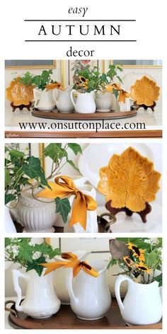 Ideas and inspiration for adding autumn to your decor. DIY and budget-friendly!