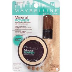 On days when I have less time to get ready, I use Maybelline Mineral Power Powder Foundation instead of liquid foundation. It's easier to just pat on with a mineral brush and go. I use the e.l.f. mineral brush instead of the little one that comes with the foundation.