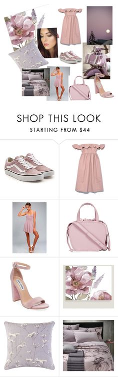 """Mauve"" by prettypinkpaquino ❤ liked on Polyvore featuring Vans, Apiece Apart, LULUS, Meli Melo, Steve Madden, Cost Plus World Market, Candice Olson and Diesel"