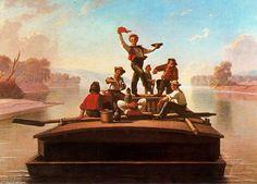 The Jolly Boatmen' on the Missouri - by George Caleb Bingham (circa 1845)