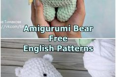 A great amigurumi polar bear free crochet pattern is waiting for you in the beautiful amigurumi toy models. Crochet Bear, Crochet Animals, Crochet Toys, Free Crochet, Doll Amigurumi Free Pattern, Plush Pattern, Cute Toys, Teddy Bears, Single Crochet