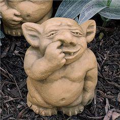Picc-a-Dilly Nose Gargoyle Statue