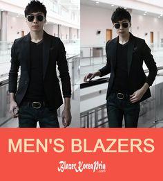 Blazer korea pria online model casual, elegan, formal. Blazer pria kualitas premium bahan blazer dari jet black standar ekspor yang halus dan nyaman dipakai.