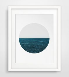 Deep blue ocean photography art - Digital Print - Perfect artwork for the minimalist home or office. Pair with other minimalist and landscape