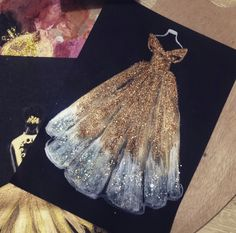 Ideas For Fashion Sketches Watercolor Gowns