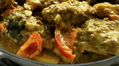 This chicken curry is more in the Nonya-style and uses chicken marylands. I find dark poultry meat works best for curries, so for a short cut, use thigh fillets rather than breasts, chopped into chunks. Curry Recipes, Wine Recipes, Asian Recipes, Cooking Recipes, Healthy Recipes, Healthy Meals, Bill Granger, Cantonese Cuisine, Fodmap Recipes