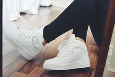 Nike Air Force 1 mid white ♥