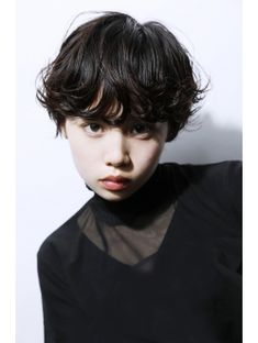 Cute Hairstyles For Short Hair, Short Curly Hair, Pretty Hairstyles, Wig Hairstyles, Curly Hair Styles, Wavy Pixie, Hair Inspo, Hair Inspiration, Asian Models Female