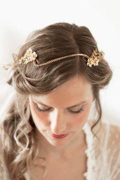 Enamel Flower Crystal Vine Bridal  Headband #222HB