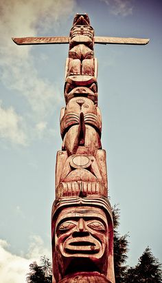 Tall, majestic, historic    One of the totem poles at Brockton Point in Stanley Park