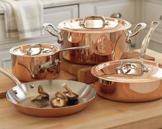 "Copper pots and pan this would be my ""Dream Set"" but at $799.95 this would have to wait a long time. :)"
