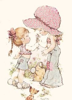 sarah kay - I completed the sticker book and I've still got it Sarah Key, Holly Hobbie, Mary May, Creative Pictures, Australian Artists, Illustrations, Cute Illustration, Vintage Cards, Cute Drawings