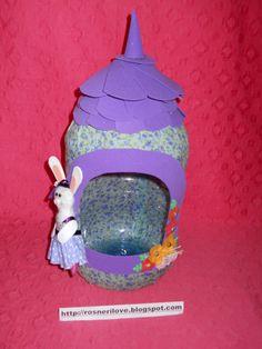 Transforme um galão de água mineral em um lindo presente de páscoa !
