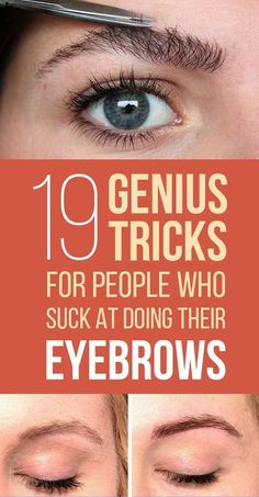 17 Genius Tricks For Getting The Best Damn Eyebrows Of Your Life Eyebrows play an important role in beauty and makeup. Perfect eyebrows that suit you are must if you want to look beautiful and here are 17 brilliant EYEBROW hacks to learn! Plucking Perfect Eyebrows, Eyebrows For Face Shape, Eye Brows, Plucking Eyebrows Tips, Natural Eyebrows, Perfect Eyebrows Tutorial, Tweezing Eyebrows, Eyebrow Shaping Tutorial, Hair And Beauty