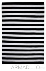 black and white etsy shop forwards black and white striped rug find