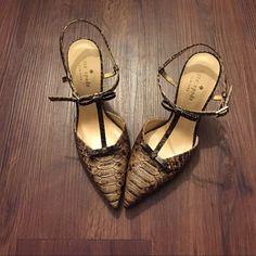 "NWOB Kate Spade Snake print sling backs Size 6B NWOB! Heel measures 4"".  Trades kate spade Shoes Heels"