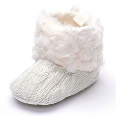 Annnowl Baby Girls Knit Soft Fur Winter Warm Snow Boots Crib Shoes 0-18 Months (0-6 Months, White) Annnowl http://www.amazon.com/dp/B0144PXD5A/ref=cm_sw_r_pi_dp_koAmwb0DS9R6S