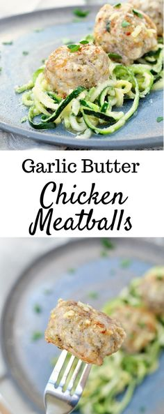This easy Garlic Butter Chicken Meatballs recipe has a delicious combination of flavors that go perfect with everything from pasta to zucchini noodles to being put onto slider rolls. No matter how you serve them, prepare for everyone to beg for seconds! #mysuburbankitchen #garlicbutterchickenmeatballs #easyappetizers #bbxxcreatedelicious #ad