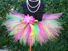 Hey, I found this really awesome Etsy listing at https://www.etsy.com/listing/119717338/girls-tutu-skirt-pink-green-tutu