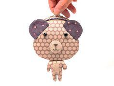 Little gray bear clutch purse