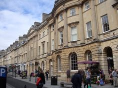 Milsom Street, Bath's famous shopping precinct. Further to your interest: Mr Tilney lodged here in Northanger Abbey #LitDetectives........  I looovvveeee Northanger Abbey
