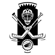 NHL The National Ice Hockey League Vinyl Decal Sticker Coat of Arms Emblem Home Wall Decor Stick Puck and Goalkeeper Mask