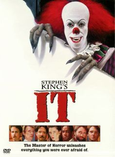 IT {1990} (#54 BEST MOVIE OF ALL TIME) A TV mini-series actually. A PHENOMENAL CAST. The 8 seen here, don't forget Tim Curry, were solid and unique. What really blew me away was how GREAT the KIDS were. Seven 11 year old kids battled a Demonic entity that would appear to them in the form of a Clown. But he'll be back in 20 years or so for a final battle.