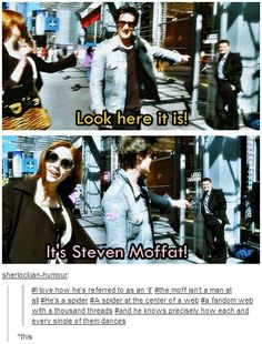 I love Stephen Moffat's stories, he's a great writer, but.....that bit about the spider is all too true....
