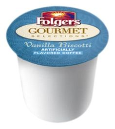 Folgers Gourmet Selections Coffee, Vanilla Biscotti,  K-Cup Portion Pack for Keurig K-Cup Brewers, 12-Count (Pack of 3) by Folgers, http://www.amazon.com/dp/B004IREFUM/ref=cm_sw_r_pi_dp_oKWarb0XDDAH1