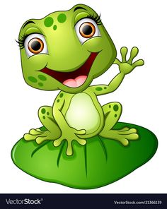 frog art projects for kids - Cartoon frog sitting on the leaf vector image on Cartoon Cartoon, Cartoon Drawings, Animal Drawings, Funny Frogs, Cute Frogs, Art Drawings For Kids, Cute Drawings, Frosch Illustration, Frog Sitting
